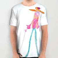 Lady with dog All Over Print Shirt