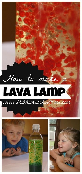 kids will love this simple science experiment - building a lava lamp #science #preschool #homeschooling