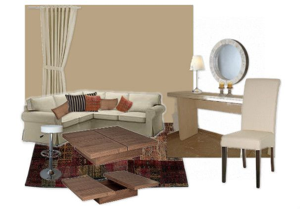 proposal for a living room in beige by www.re-make.gr