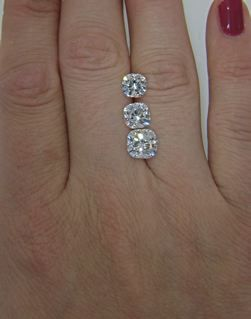 ... images abou... 1 Carat Cushion Cut Halo Engagement Ring