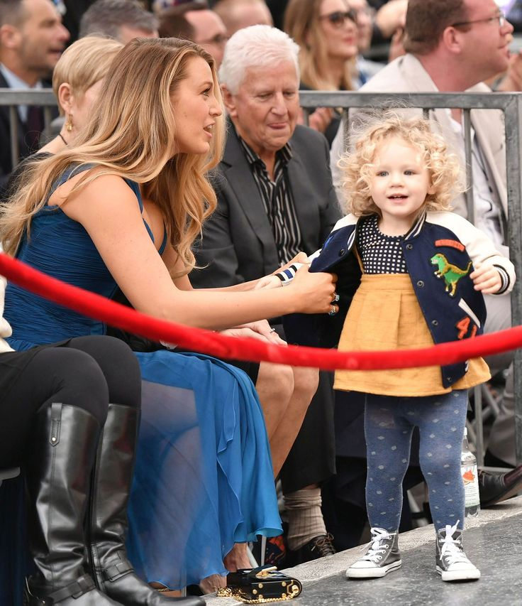 Blake and 2 yr old James at dad, Ryan Reynolds, honor of a star on the Hollywood Walk of Fame, 12-15-16.
