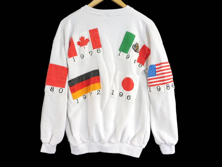 Vintage 1988 Olympics Crewneck Sweatshirt - Large - South Korea - Seoul Olympics - Olympic Clothing - Vintage Clothing - 80s Clothing - by BLACKMAGIKA on Etsy
