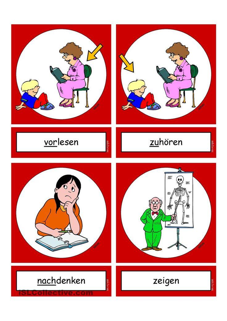 Flashcards_Verben_In der Schule_2_mittel