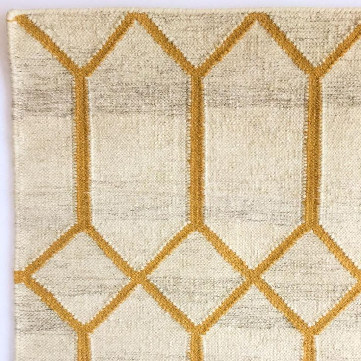 Renna Yellow Gold Tonic Living Flat Weave Rug Rug