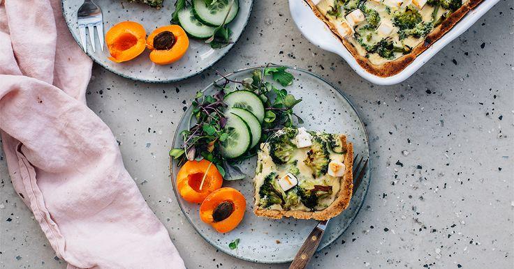 Spinach, Broccoli & Feta Quiche (GF)