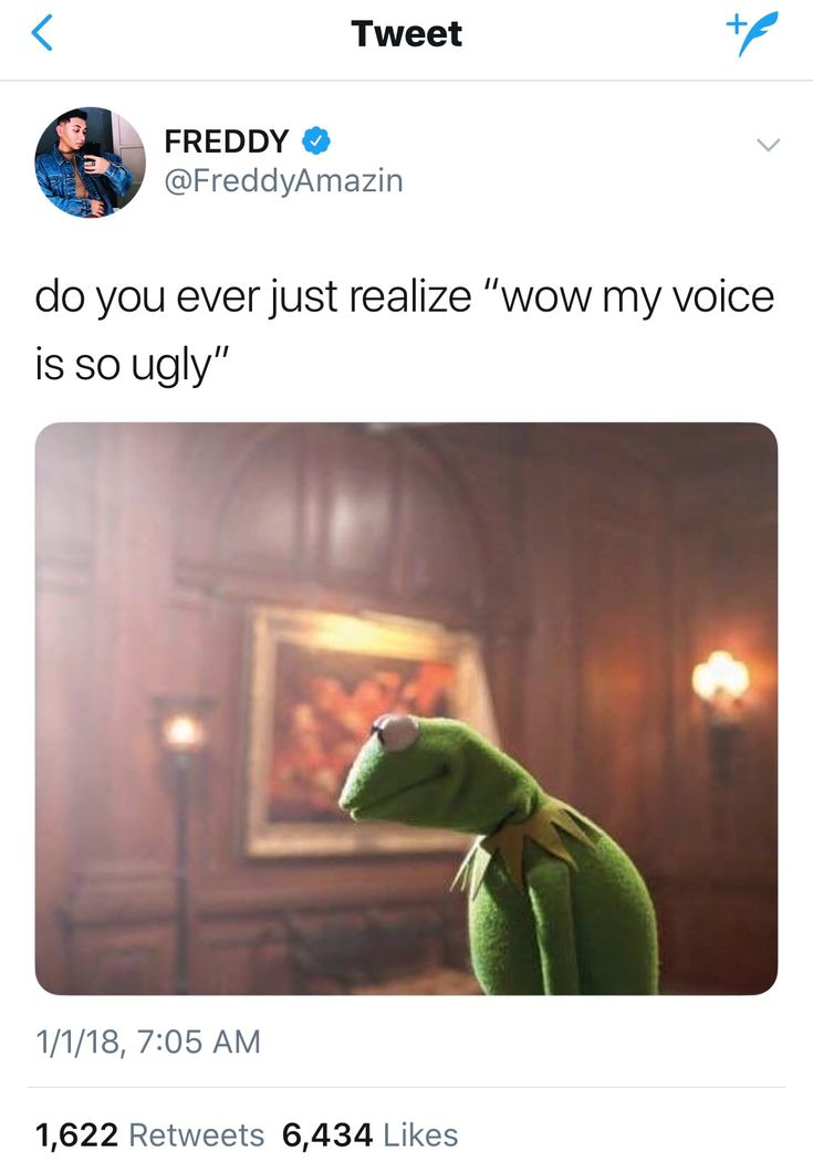 When I talk I can't listen to myself