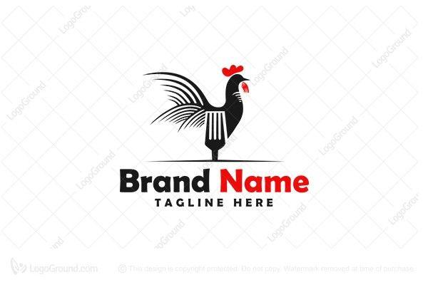 Logo for sale: Chicken / Rooster Logo For Restaurant Logo