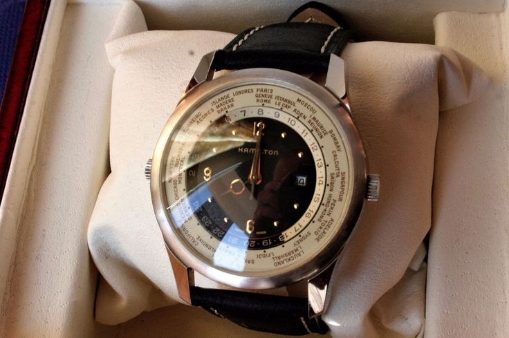 Hamilton World Timer, men's watch, 1990s, hard to find