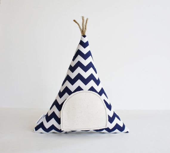 Chevron Tooth Fairy Teepee Pillow- You Choose The Color! See last image for colors  Open the Door to Find the Secret Pocket!  Open the tiny secret