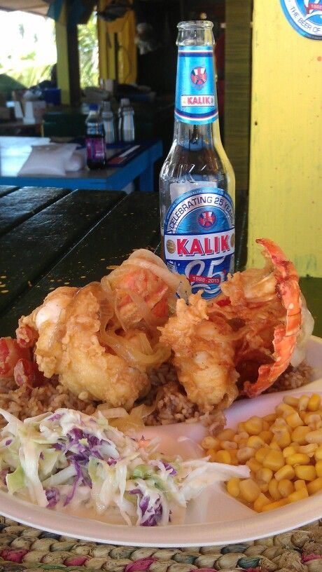 The Best Lobster in the World at Santana's Grill Pit, Great Exuma, Bahamas!!!