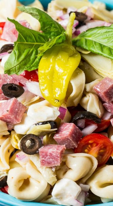 Tortellini Antipasto Pasta Salad with Newman's Own Dressing