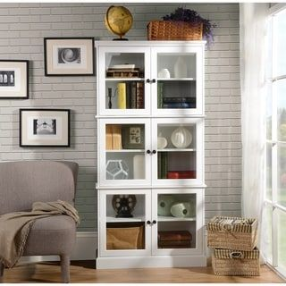 Homestar Alto White Display Cabinet | Overstock.com Shopping - The Best Deals on Buffets