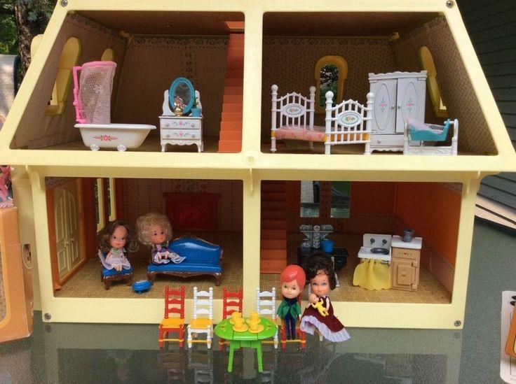 VINTAGE Mattel Littles Victorian Dollhouse Dolls/Furniture HUGE LOT | EBay