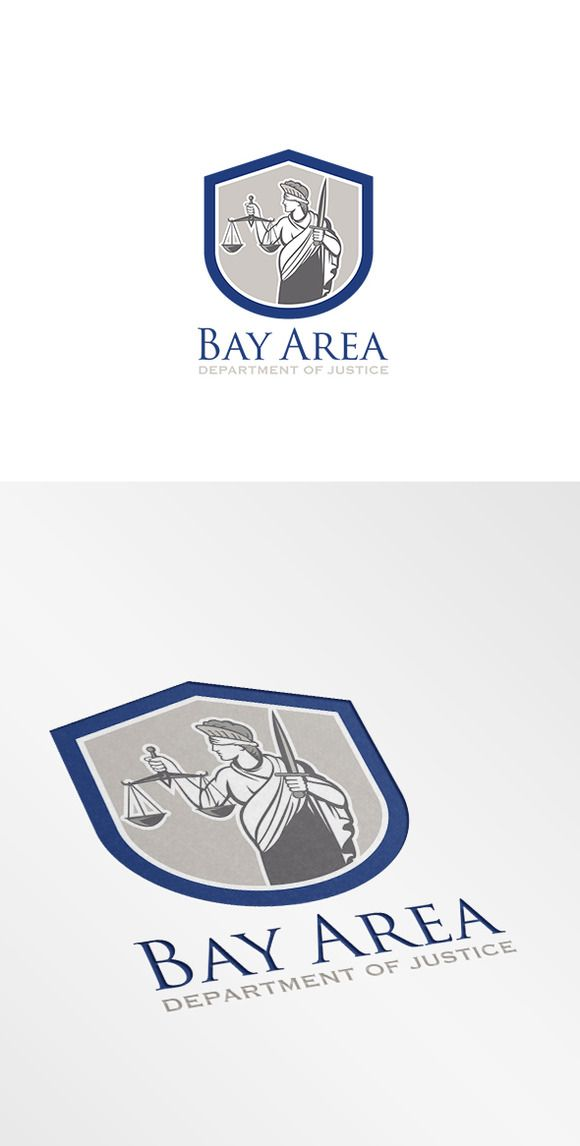 Check out Bay Area Department of Justice Logo by patrimonio on Creative Market