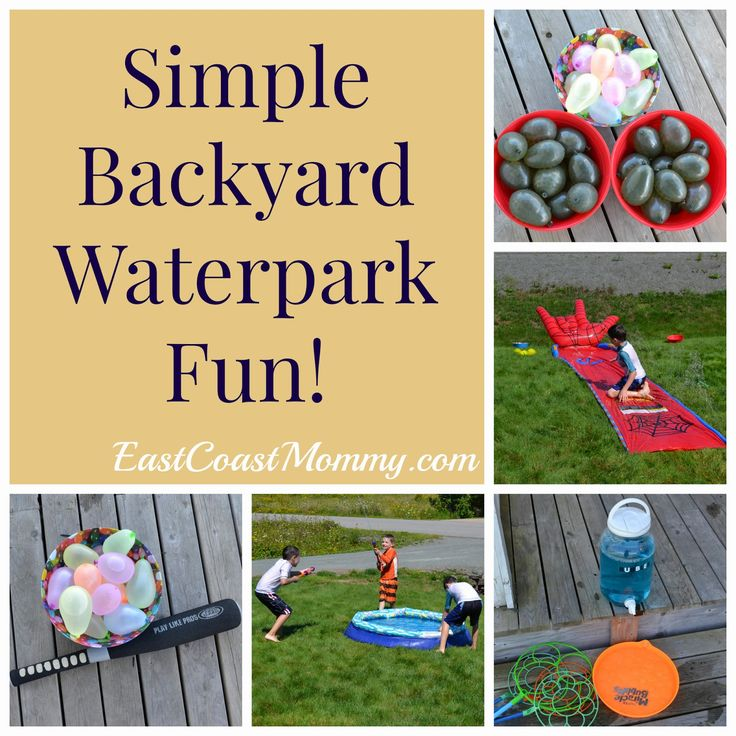 Simple Backyard Water Park... I love the water balloon batting practice.