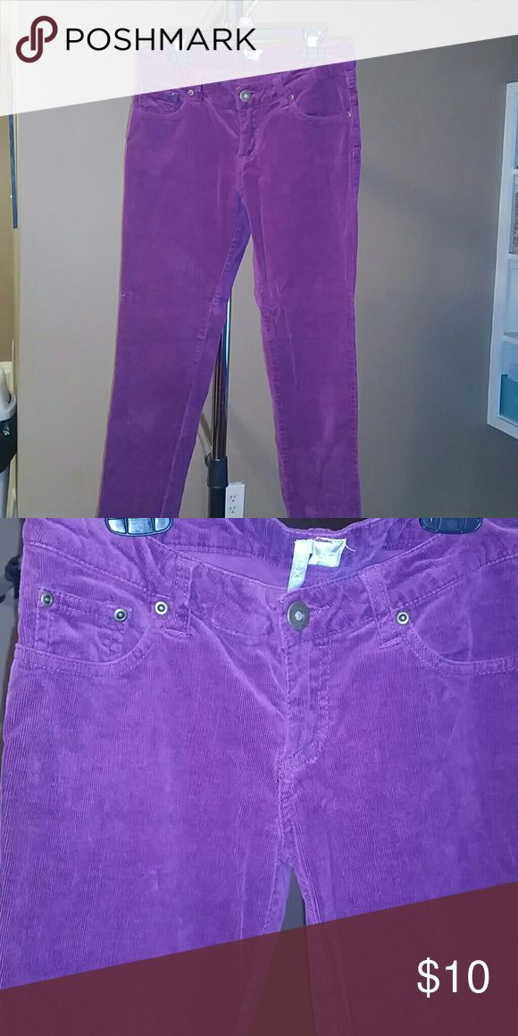 Corduroy purple skinny pants Skinny Corduroy purple pants max rave  Pants Skinny