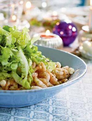 Citronmarinerede rejer med salat | Magasinet Mad!