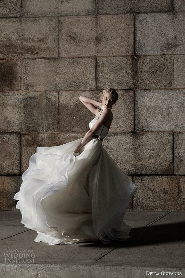 della giovanna wedding dress 2015 bridal bustier corset chiffon straps julia and ruffle ball gown skirt with horsehair corinne model