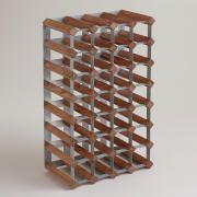 Wood & Metal Industrial Wine Rack