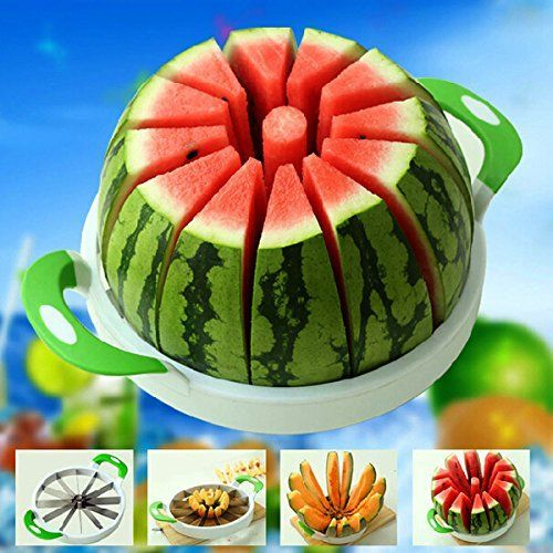 28CM Large Watermelon Cutter Slicer Stainless Steel Fruit Perfect Corer Slicer Kitchen Tools * See this great product.