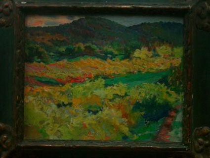 Outono em Castelo de Vide (Séc. XX). Adriano Sousa Lopes (1879-1944). Óleo sobre tela (33 cm x 41 cm). Museu do Chiado – Museu Nacional de Arte Contemporânea, Lisboa.