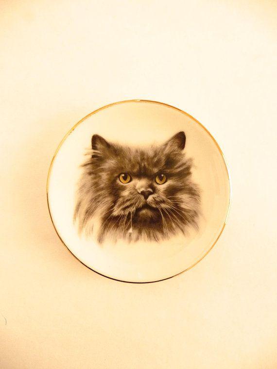 Cat Portrait Miniature Ceramic Dish