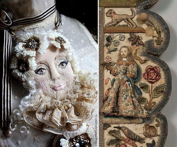 Broszka i średniowieczne ubrania produkowane przy użyciu aplikacji luzem