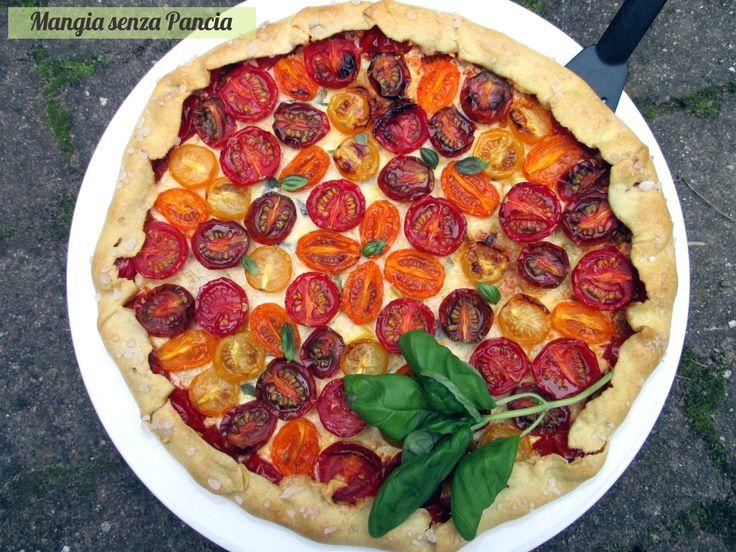 Torta salata pomodorini e ricotta