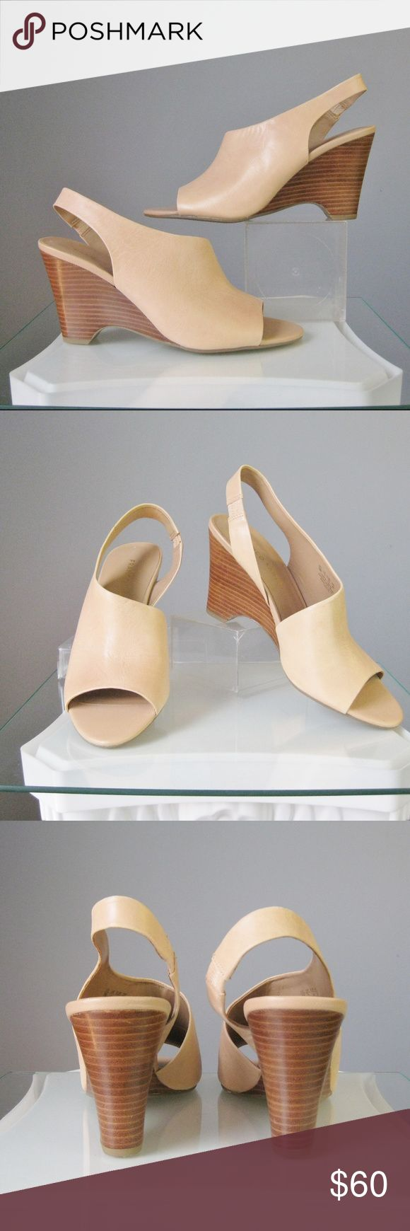 """NWOB France Sarto Full Cover Slings Nude Uber Chic and sure to be a staple in your summer shoe wardrobe Leg lengthening color, full cover to most of your foot All you need is a killer pedicure! Size 9 US  7 UK  40 EUR   Leather upper, balance man made  These have never been worn but have some signs of trying on - Excellent condition except for faint dark line across the top of the left shoe and a very small scratch on the back of the left heel Heel: 3 3/8""""  Thank you for looking! #27080…"""
