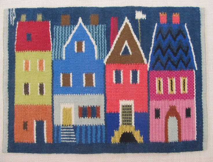 Swedish 60's / 70's flemish weaving (flamsk) wool tapestry city houses mounted by Norden5070 on Etsy https://www.etsy.com/listing/225489216/swedish-60s-70s-flemish-weaving-flamsk