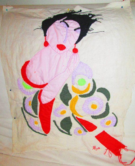 Arte tessile Sonia Delaunay  cm.54x40 tecnica di StrassiColorai