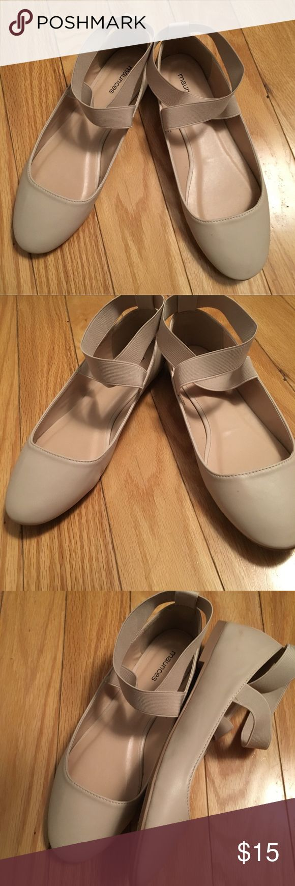 • Cream Maurices Flats • Cream/light tan colored ballet flats from Maurices. Never worn only tried on! Super cute and comfy! Maurices Shoes Flats & Loafers
