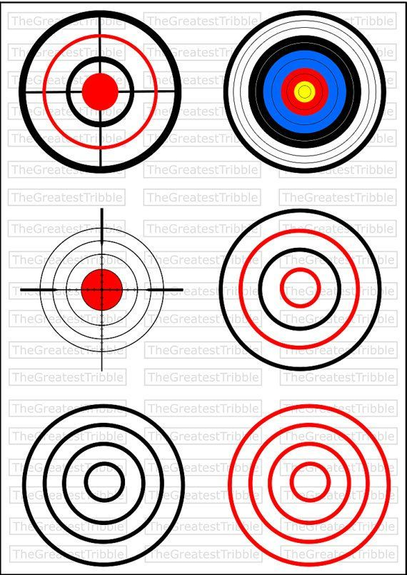 Bulls Eye Shooting Target Svg Png Jpg Vector Graphic Collection Shooting Targets Paper Targets Target Image