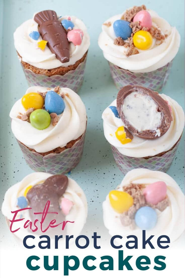Easter Carrot Cupcakes With Cream Cheese Frosting Recipe