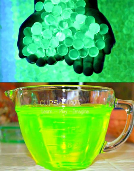 How To Make Glow Water And Water Beads...http://homestead-and-survival.com/how-to-make-glow-water-and-water-beads/