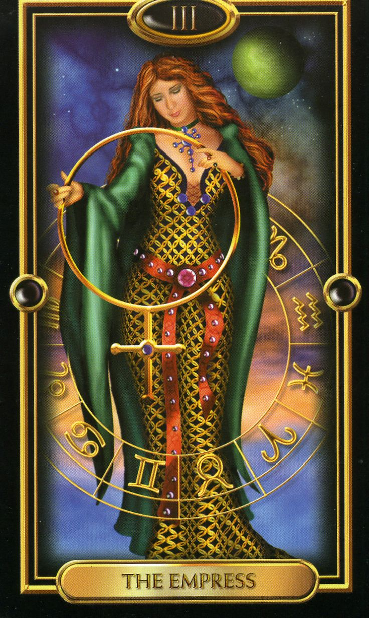 Four of Pentacles Gilded Tarot | The Empress