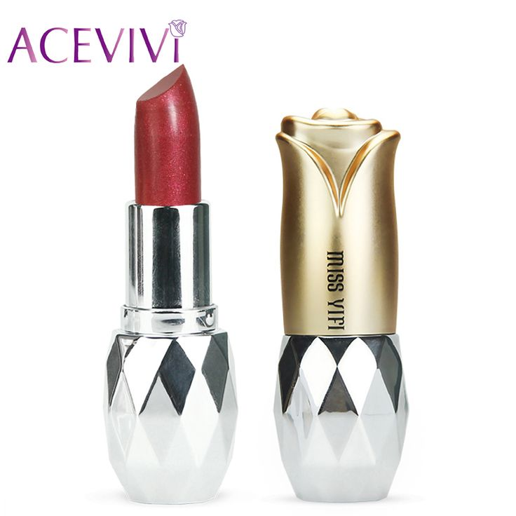 ACEVIVI Lady 7 Colors Moisture Shimmer Lipstick Batons Lip Stick Makeup Diamond Cosmetic Waterproof Long Lasting High Quality #Affiliate