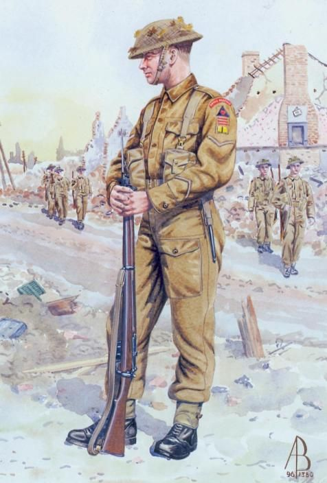 BRITISH ARMY -Lance Corporal- 9th Norfolk Royal Regiment - 1944-45