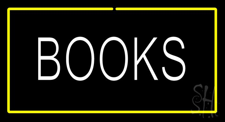 Books Yellow Border Neon Sign 20 Tall x 37 Wide x 3 Deep, is 100% Handcrafted with Real Glass Tube Neon Sign. !!! Made in USA !!!  Colors on the sign are Yellow and White. Books Yellow Border Neon Sign is high impact, eye catching, real glass tube neon sign. This characteristic glow can attract customers like nothing else, virtually burning your identity into the minds of potential and future customers.