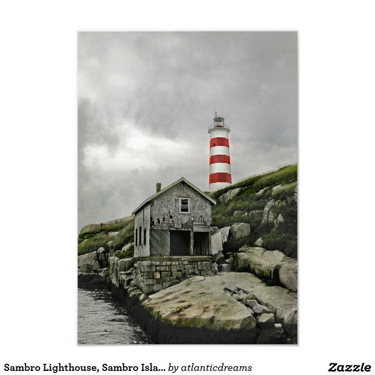 Sambro Lighthouse, Sambro Island, Nova Scotia 3.5x5 Paper Invitation Card