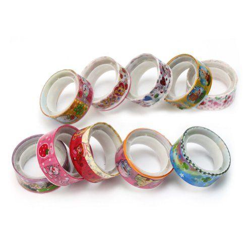 10 Rolls Colorful Cartoon Deco Cute Tape Adhesive Scrapbooking Sticker Popular AllBeauty http://www.amazon.co.uk/dp/B00HE2AW8M/ref=cm_sw_r_pi_dp_Jl4Fub1YSF40Z