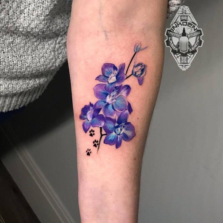 Notitle Tatto Notitle Tatto Larkspur Tattoo Tattoos Birth Flower Tattoos
