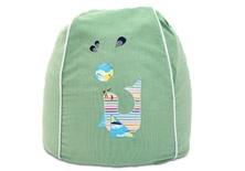 Playful seal bean bag cover - green.  Save $30 now just $90.