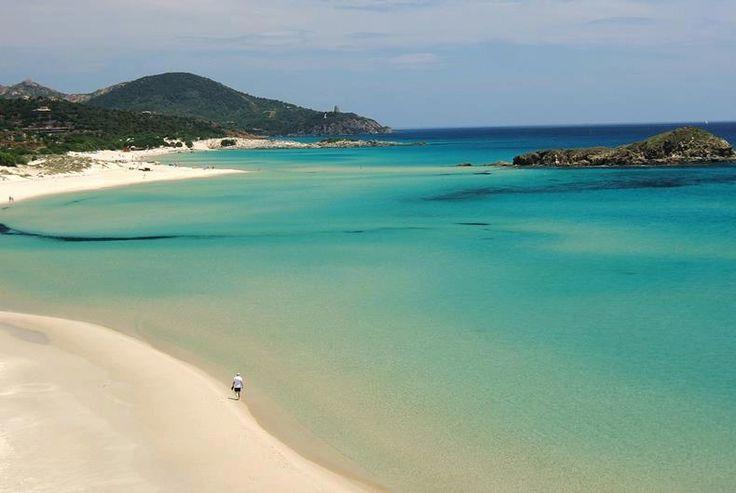 Chia Su Giudeu, Domus De Maria, Sardegna, Sardinia, Beach.