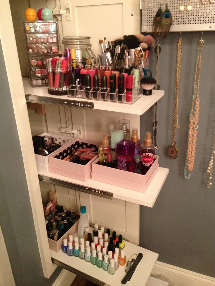 product organization hair product storage and small bathroom storage