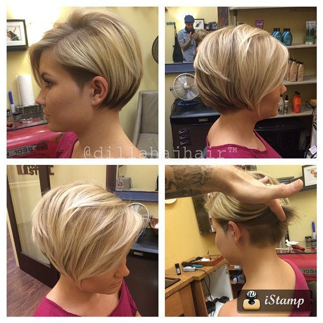 The gorgeous @sky_eyes_ growing out her pixie... Still maintaining a rad cut…
