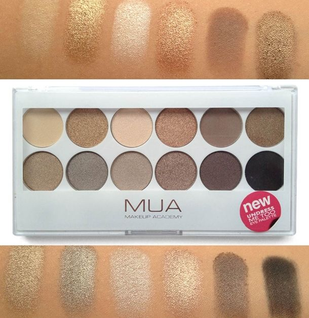 MUA Makeup Academy Undress Me Too Palette Swatches