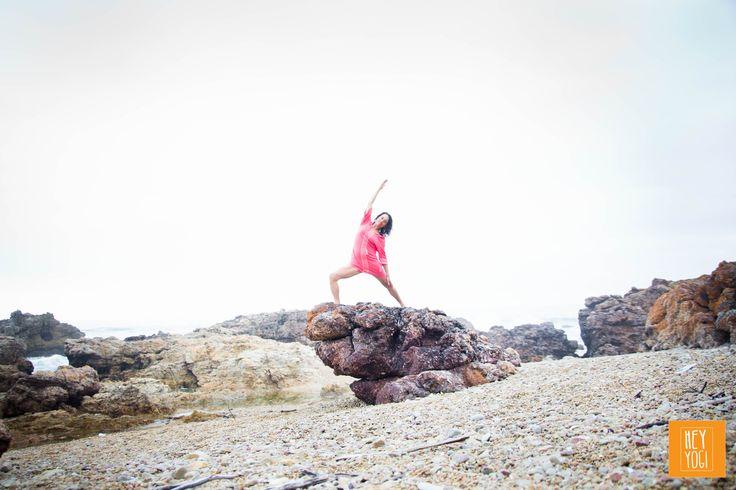 Virabhadrasna Variation with Rachel Zinman.  Yoga photography by Nora Wendel from HEY YOGI.  Plettenberg Bay, South Africa, 2015