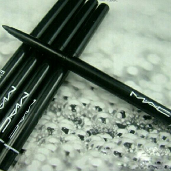 Mac Black Waterproof Eyeliner Pencil One brand new pencil without box.  Waterproof. Long-wearing. Smooth to apply. Won't transfer, smudge or budge. Draws the line. Powers your eyes. Makes its point. Lasts and lasts. MAC Cosmetics Makeup Eyeliner