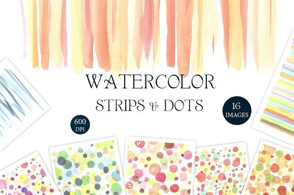 Strips and Dots by Nicolai-works on @creativemarket